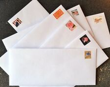 "50 Forever Stamped Envelopes - #10 White Woved Security 4 1/8"" X 9 1/2"" Gummed"