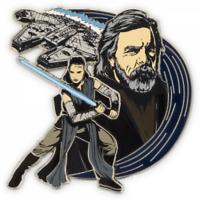 Disney Pin 124080 Star Wars The Last Jedi Rey & Luke Skywalker Millennium Falcon