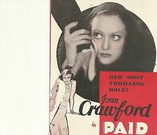 PAID(1930)JOAN CRAWFORD ORIGINAL PRESSBOOK HERALD+