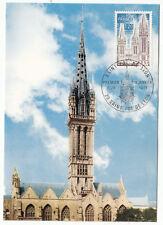 CARTE MAXIMUM FDC 1975 TIMBRE N° 1808 SAINT PAUL DE LEON