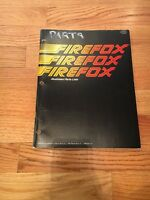 Atari Firefox Video Arcade Game Illustrated Parts List Manual, 1983