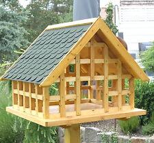 Exklusives XXL Fachwerk Vogelhaus mit grünen Schindeldach in Eiche Hell 029