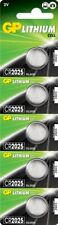 5 X GP Batteries Lithium Button CR2025 DL2025 Coin Batteries Pack of 5