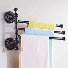 Oil Rubbed Bronze Towel Holder Swivel Bar Wall Mount Bath Towel Rack Rail Hanger