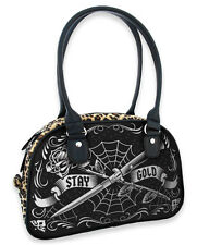 Liquor Brand Switch Rose Knives Crossed Stay Gold Handbag Bowler Bag B-BW-025