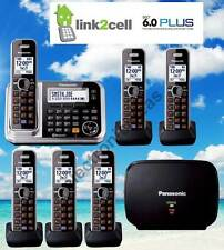 PANASONIC KX-TG7875S DECT6.0 LINK2CELL BLUETOOTH 6 CORDLESS PHONES + 1 REPEATER