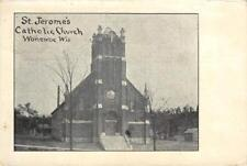 St. Jerome's Catholic Church, Wonewoc, Wisconsin 1908 Vintage Postcard