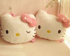 2Pcs Cute Hello Kitty Car Seat Head Rest Cushion Pillows Neck Rest Pillow