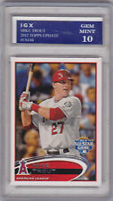 MIKE TROUT Topps Update ROOKIE CARD Angels Baseball RC Graded GEM MINT 10!