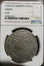 1624-1637AD  28 Stuber Silver.  Germany Emden  NGC F 12