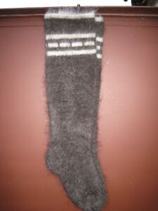Socks  VERY long LEG WARMERS goat down hunting fishing natural  Russian craft