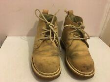 Cuero Genuino Talla 3 Tobillo Militar Botas Zapatos para mujeres Damas Marrón Bronceado (NT