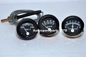 Ford Tractor 2N 8N 9N NAA 601 70 801 901 2000 4000 Amp Oil Temp Gauge Set