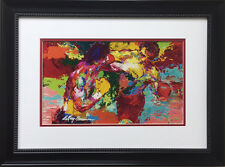 """LeRoy Neiman """"The Knockout"""" CUSTOM FRAMED Lithograph ROCKY Apollo Creed BOXING"""
