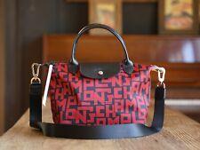 Longchamp Le Pliage LGP Tote Handbag Medium Authentic From France - Red