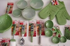 New KitchenAid Green Apple 32 Piece Set Can Opener Measuring Cups (Color: HGAA)