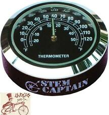 """STEMCAPTAIN THERMOMETER 1-1/8"""" TOP CAP FOR MTB-BMX-ROAD BICYCLE HEADSETS"""