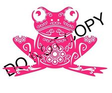 CUTE FROG PINK VINYL DECAL CAR TRUCK SUV LAPTOP FUNNY LOVE