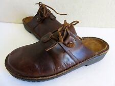 Naot Mules Brown Leather Shoes Womens 8 M EU 39