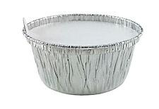 4 oz. Aluminum Foil Muffin//Ramekin Cups w/Lids 50 Sets- Disposable Cupcake Tins