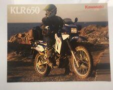 Kawasaki KLR650 4 page brochure,