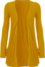 LADIES LONG SLEEVES BOYFRIEND CARDIGAN OPEN FRONT TOP COLOURS & SIZES AVAILABLE