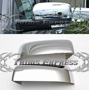 fit:2009-2018 Dodge Ram 1500/2010-2019 2500 Chrome Door Mirror Covers-Top Half