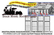 Industrial/Engine House/Roundhouse 27-Pane (8pcs) Grandt Line HOn3 Fine Scale