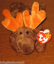 TY Chocolate Moose Beanie Baby Original 9 4th Generation PVC PELLETS 1993 ERRORS