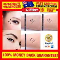 2 in 1 Black Liquid Eyeliner Makeup Pen with Star Heart Moon Shape Dot Stamp