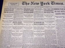 1931 NOV 7 NEW YORK TIMES - ROCKEFELLERS GIVE $1,000,000 FOR IDLE - NT 2194