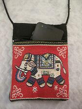 Smart Phone Pouch, Shoulder Bag Thai Elephant Pocket Purse,GIFT,HANDMADE