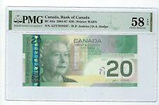 New listing 2004-07 Canada 20 Dollars, Pmg 58 Epq Qeii, Bc-64a Jenkins/Dodge Radar