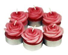 HAAC 6 Teelicht Kerzen In Form Von Rosafarbenen Rosen Durchmesser 4 Cm