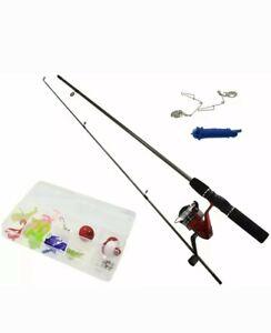 New Complete Beginners Fishing Kit Float Rod Reel tackle Set Fishing Summer Fun