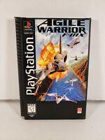 Agile Warrior F-111X Long Box Sony PlayStation 1 PS1 Complete in Box CIB