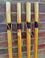 LARGE HIKING WALKING STICKS CANE SOLID THIN CHESTNUT WOOD FARMERS WALKING STICK