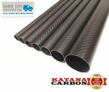 MATT 1 x od 8 mm ID x 6 mm x lunghezza 500 mm 3k tubo in fibra di carbonio (ROTOLO avvolto)