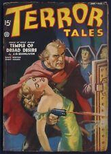 TERROR TALES Pulp Magazine WILLIAM F. SOARE Cover, January-February 1937, V.Good