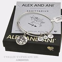 Alex and Ani Sagittarius III Zodiac Expandable Wire Bracelet Raf Silver NWTBC