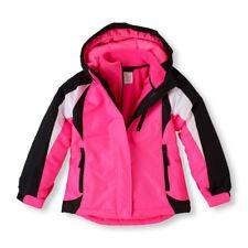 Girls Winter Coat w/Fleece Liner - Pink/Black, Size 4, Childrens Place NWT