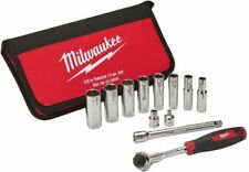 Milwaukee 3/8 Drive SAE Socket Set 12-Piece Ratchet Adaptor Wrench Nut Driver