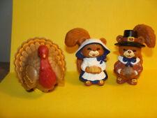 Hallmark Heartline Thanksgiving Merry Miniatures, Pilgrims & turkey