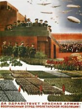 Red Military Art Posters