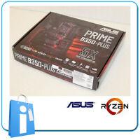 Platte Hauptplatine ATX B350 Asus Prime B350-plus Ddr4 Socket Am4 mit Zubehör