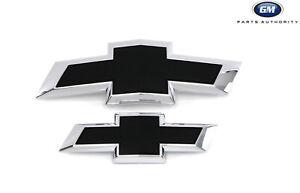 2018-2021 Chevrolet Traverse Black Bowtie Emblems 85115644 Grille & Liftgate OEM