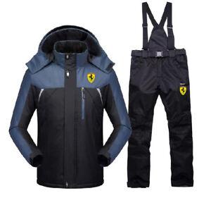 Men Windproof Outdoor Coat Pants Ski Hiking Suit Sets Jacket Coat Snowboard