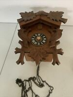 Vintage coo coo Cuckoo clock made in West Germany Black Forest As Is Need Work