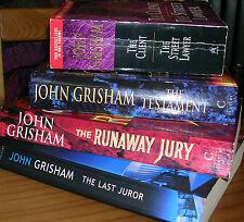 x5 JOHN GRISHAM NOVELS COLLECTION JOB LOT BUNDLE JURY CLIENT LAWYER LAST JUROR