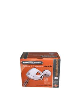 Proctor Silex 62535Y 150 Watt 5 Speeds Mixer White Hand Mixer Beaters Eject